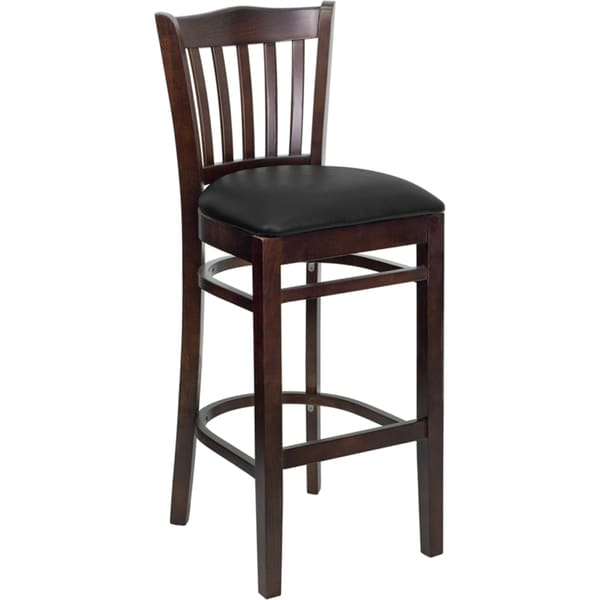 dark wood restaurant bar stool free shipping today 17228790. Black Bedroom Furniture Sets. Home Design Ideas