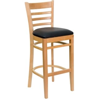 Light Wood Restaurant Upholstery Bar Stool