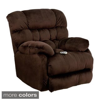 Offex Massaging Sharpei Microfiber Recliner with Heat Control