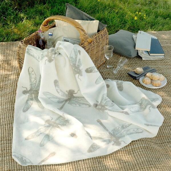 IBENA Sorrento Dragonfly Jacquard Throw Blanket