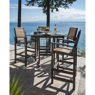 POLYWOOD® Coastal 5-piece Outdoor Bar Set