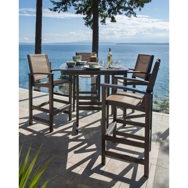 Overstock Bar: Shop POLYWOOD® Coastal 5-piece Outdoor Bar Set