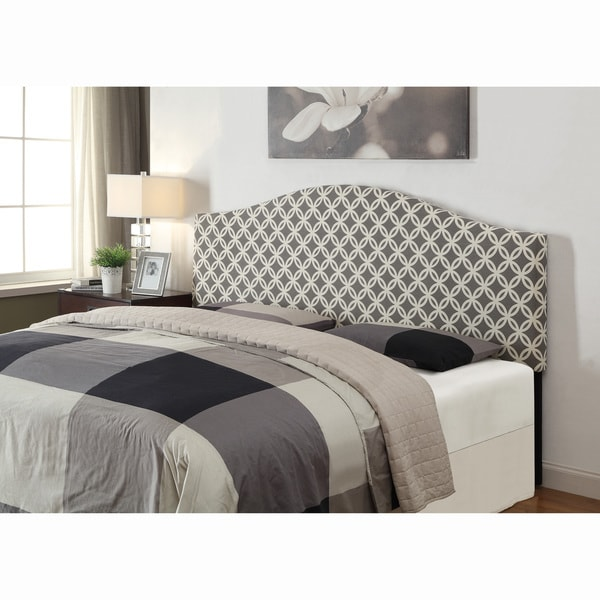 grey king california king size upholstered headboard free shipping today. Black Bedroom Furniture Sets. Home Design Ideas