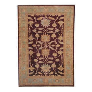 Herat Oriental Afghan Hand-knotted Oushak Wool Rug (6' x 9')