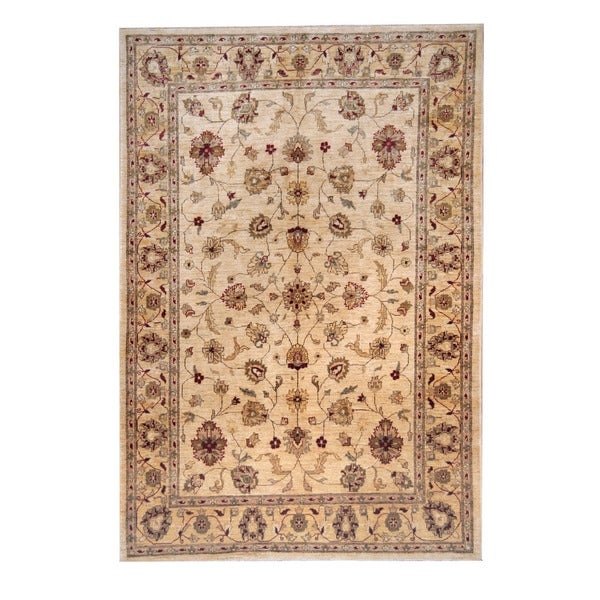 Herat Oriental Afghan Hand-knotted Oushak Wool Rug (6' x 8'9) - 6' x 8'9