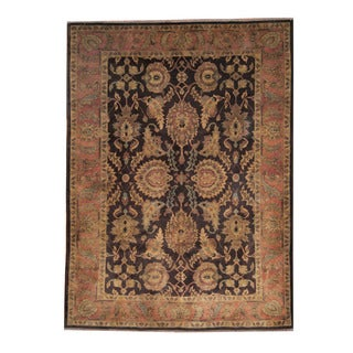 Herat Oriental Afghan Hand-knotted Oushak Brown/ Rust Wool Rug (6'3 x 8'8)