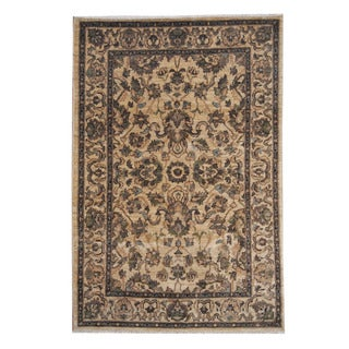 Herat Oriental Afghan Hand-knotted Oushak Wool Rug (5'7 x 8'4)