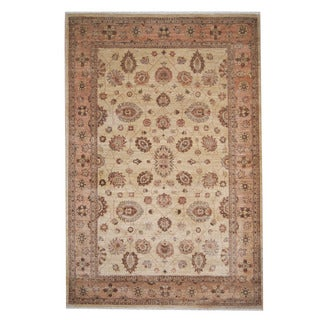 Herat Oriental Afghan Hand-knotted Oushak Wool Rug (6'6 x 9'8)