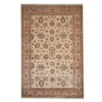 Handmade Herat Oriental Afghan Oushak Wool Rug (Afghanistan) - 6'6 x 9'8