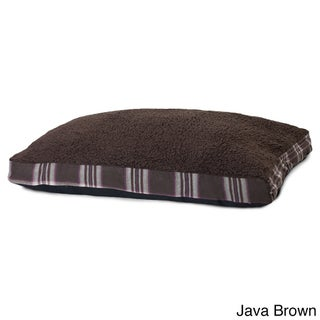 Furhaven Snuggle Terry and Plaid Deluxe Pillow Pet Bed (More options available)