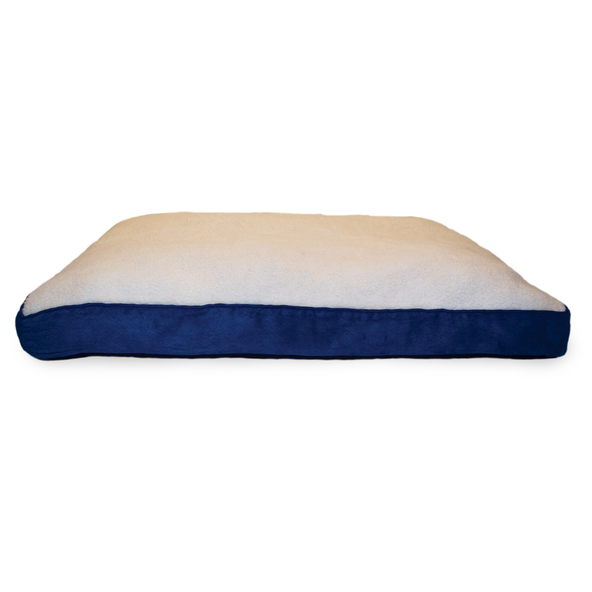 FurHaven Sherpa and Suede Deluxe Pillow Pet Bed (Large Na...