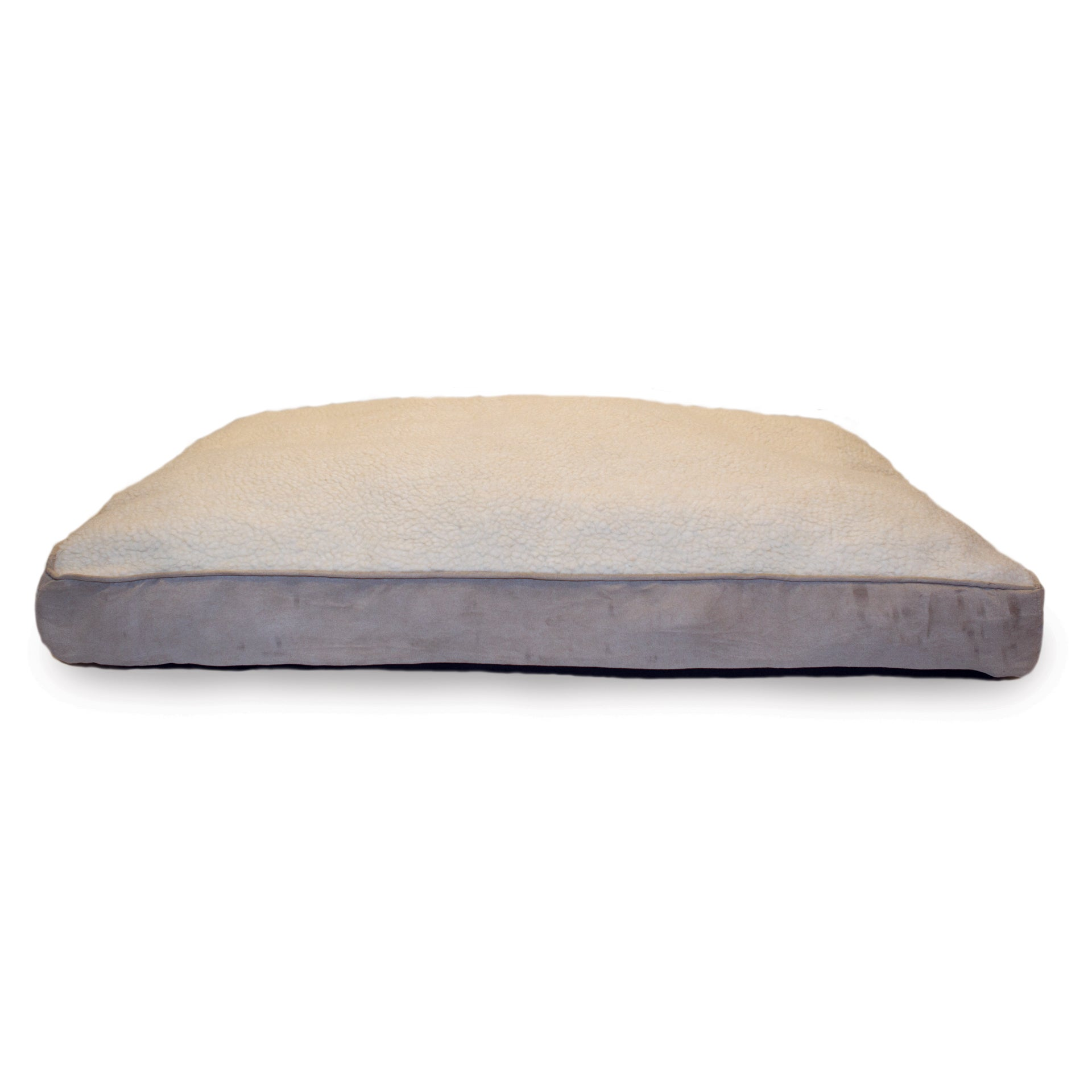 FurHaven Sherpa and Suede Deluxe Pillow Pet Bed (Large Cl...