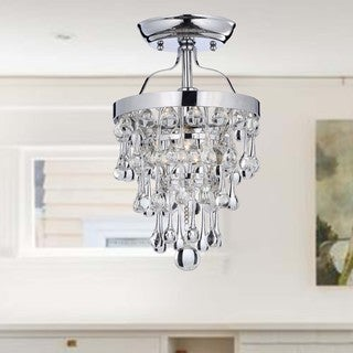 Claudia Chrome Semi-Flush Mount Crystal Chandelier