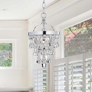 Claudia Chrome Finish Crystal Chandelier