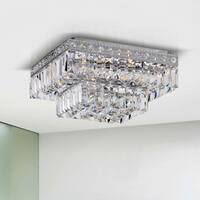 Oliver & James Chantal 2-tier Chrome Crystal Chandelier