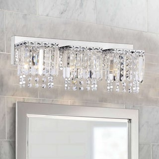 Link to Evelyn 3-light Crystal Strand Wall Sconce in Chrome Finish Similar Items in Bathroom Vanity Lights