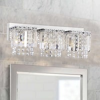 Shop Silver Orchid Tracy Light Chrome Crystal Wall Sconce On - 3 light bathroom sconce