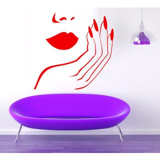 Nails Manicure Sticker Vinyl Wall Art