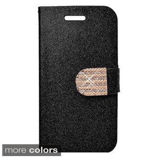 Insten Diamond Leather Glitter Wallet Flap Pouch Phone Case Cover with Stand For Samsung Galaxy S6