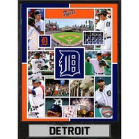 Detroit Tigers 9-inch x 12-inch Plaque
