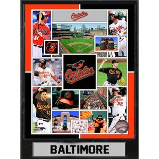Baltimore Orioles 9-inch x 12-inch Plaque