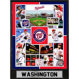 Washington Nationals 9-inch x 12-inch Plaque