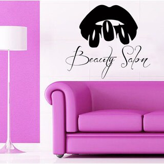 Lips Nails Salon Decor Sticker Vinyl Wall Art