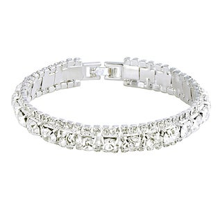 Zodaca Silver Free Size Fashion Woman Crystal Beaded Bracelet