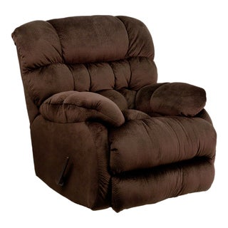 Offex Contemporary Sharpei Chocolate Microfiber Rocker Recliner