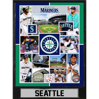 Seattle Mariners 9-inch x 12-inch Plaque