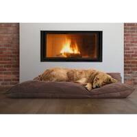 FurHaven Suede Top Throw Pillow Pet Bed