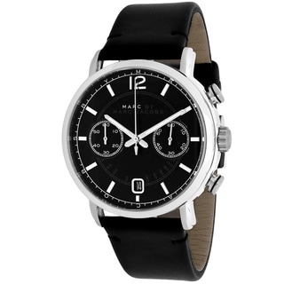 Marc Jacobs MBM5074 Men's Fergus Round Leather Strap Watch