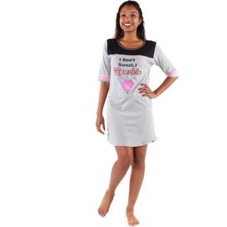 Hadari Women's ' I Dont Sweat I Sparkle' Pajamas