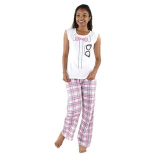 Hadari Women's 'Nerd Glasses' Pajamas Set