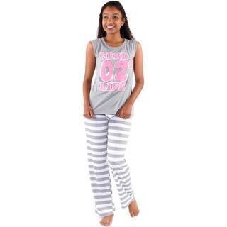 Hadari Women's 'Nerd 02 Life' Pajamas Set