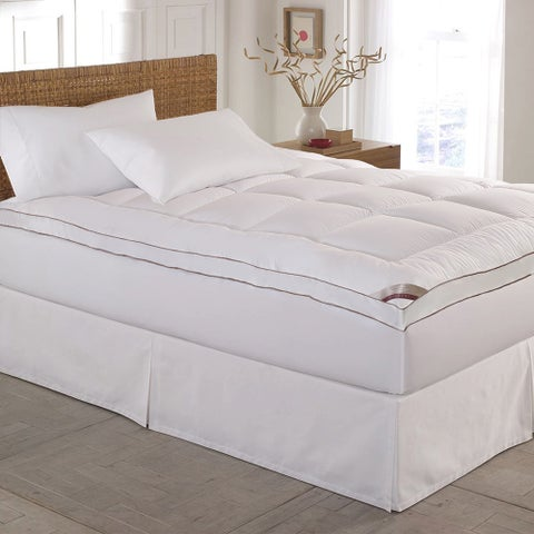 Kathy Ireland HOME 233 Thread Count Down Alternative Fiber Bed Mattress Pad Topper