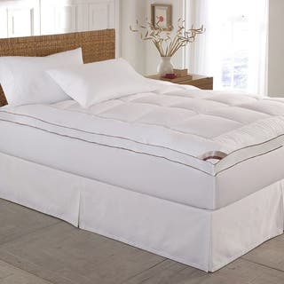 kathy ireland HOME 233 Thread Count Down Alternative Fiber Bed Mattress Pad Topper|https://ak1.ostkcdn.com/images/products/10088474/P17230960.jpg?impolicy=medium