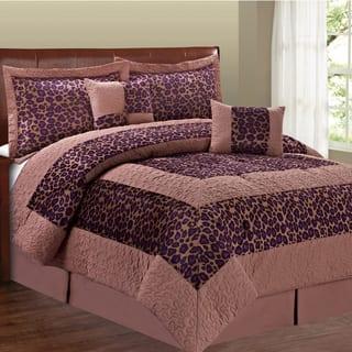 Serenta Cheetah Design 6-piece Comforter Set|https://ak1.ostkcdn.com/images/products/10088494/P17230956.jpg?impolicy=medium