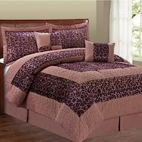 Serenta Cheetah Design 6-piece Comforter Set