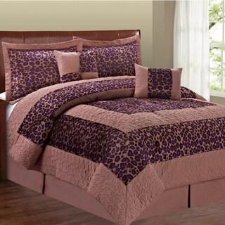 Serenta Cheetah Design 6 Piece Comforter Set
