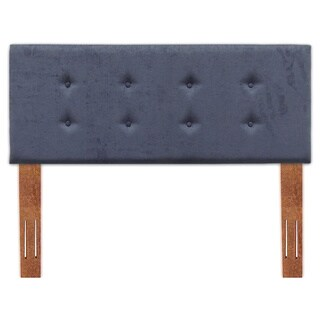 Fashion Bed Group B7279 Baden Upholstered Headboard Panel with Button Tufting, Midnight Finish, Full/Queen Size