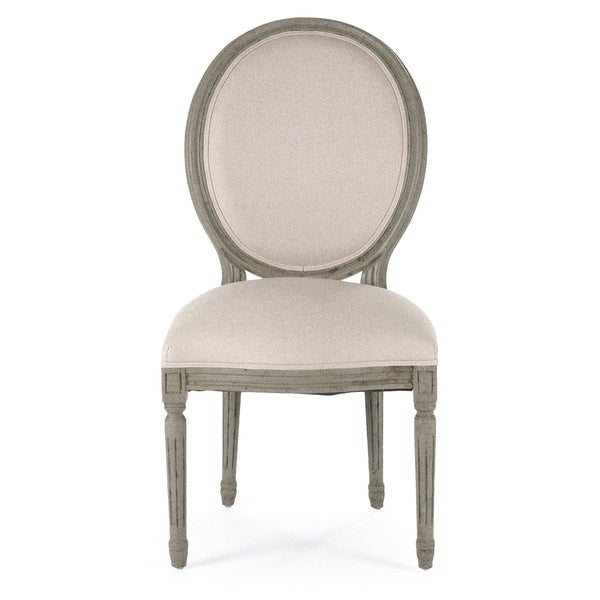 f White Olive Round Back Medallion Dining Chair Free