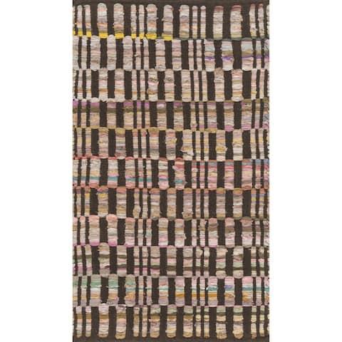 Alexander Home Flatweave Tabby Cotton Stripe Chindi Rug
