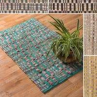 "Flatweave Tabby Cotton Chindi Rug - 1'8"" x 3'"