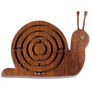 Wooden Snail Labyrinth Toy (India)