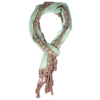 Mint Green Dyed Crochet Scarf (India)