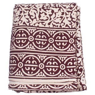 Brown Chain Detailing King Size Duvet Cover (India)
