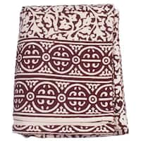 Handmade Brown Chain Detailing King Size Duvet Cover (India)