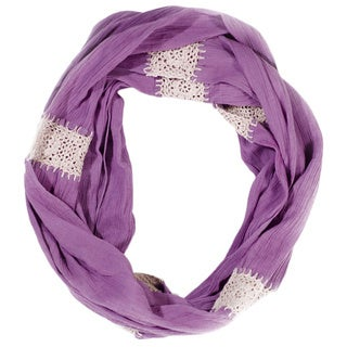 Handmade Lavender Crochet Infinity Scarf (India)