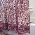 Handmade Brown Chain Detailing Cotton Shower Curtain (India)